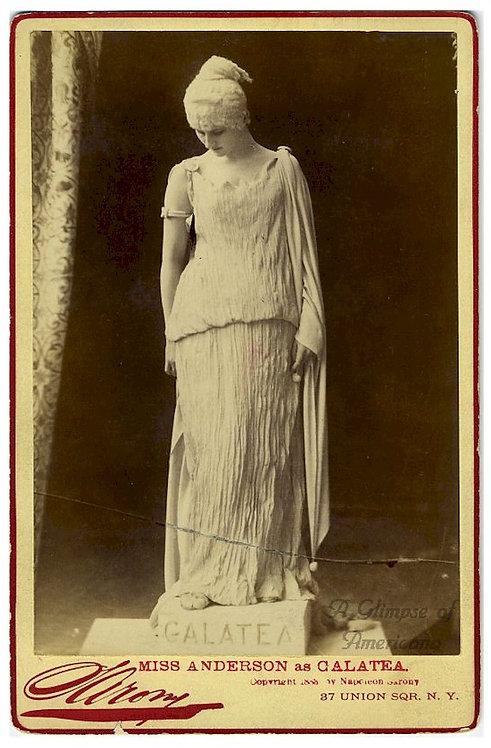 CABINET CARD- ACTRESS MARY ANDERSON AS GALATEA - SARONY PHOTO