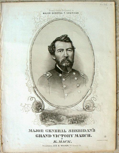 CIVIL WAR SHEET MUSIC - MAJOR GENERAL SHERIDAN'S GRAND VICTORY MARCH