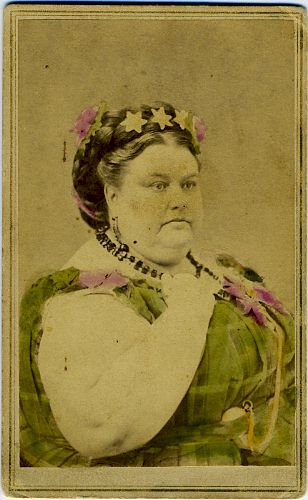 CIRCUS- SIDESHOW - MARY POWERS  GIANT LADY - CDV