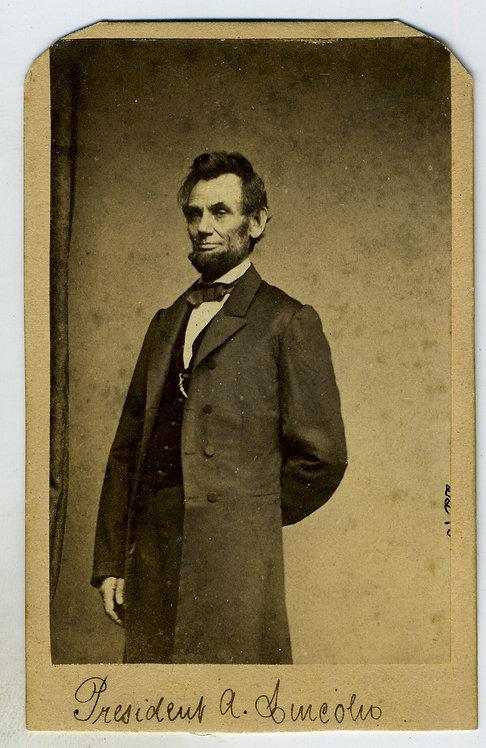 CDV – LINCOLN – BRADY'S STUDIO WASHINGTON JAN 8 1864