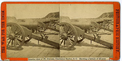 STEREOVIEW – WAR FOR THE UNION – BRADY – FT. PUTNAM - CANNONS