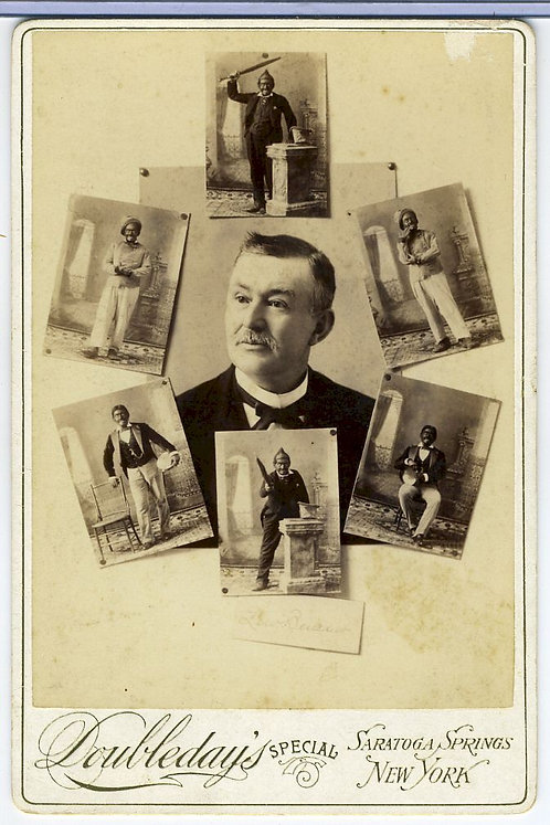 LEW BENEDICT- BLACK FACE ACTOR - CABINET CARD