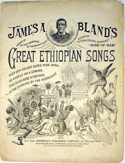 SHEET MUSIC- BLACK AMERICANA- GREAT ETHIOPIAN SONGS.