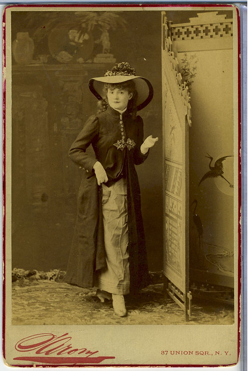 ACTRESS LOTTA CRABTREE – DARLING OF THE GOLD CAMPS- CABINET CARD