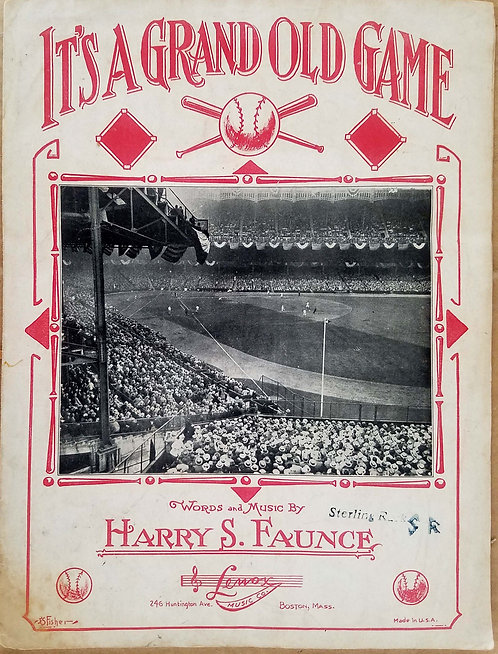 BASEBALL - SHEET MUSIC – IT'S A GRAND OLD GAME – BOSTON BRAVES – 1931 ILL. COVER