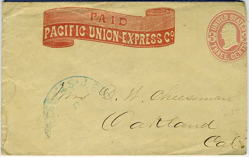 POSTAL – CALIFORNIA EXPRESS –PACIFIC UNION EXPRESS  COVER