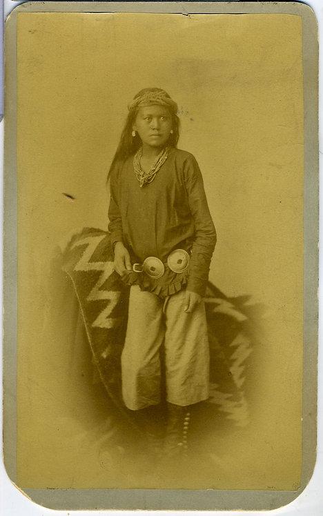 NAVAJO BOY AT CARLISLE- BOUDOIR PHOTOGRAPH – CHOATE.