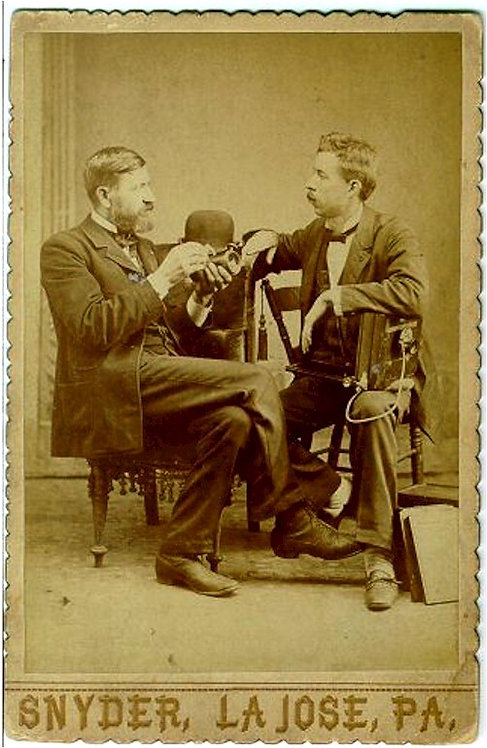 PHOTOGRAPHY- PHOTOGRAPHERS WITH CAMERA CABINET CARD