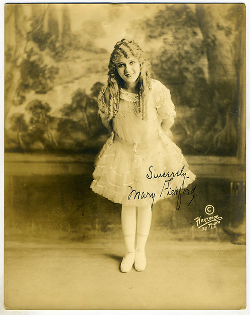 PHOTOGRAPH  - ORIGINAL - MARY PICKFORD  - SILENT FILM STAR – HARTSOOK PHOTO