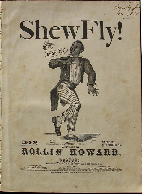 SHEET MUSIC-  BLACK AMERICANA- SHEW FLY