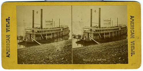 STEREOVIEW - MISSISSIPPI RIVERBOAT J.E. McDONALD