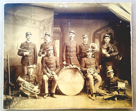 BAND – MILFORD CENTRE OHIO - PHOTOGRAPH CA 1890