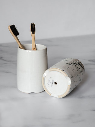 Stoneware Toothbrush Holder