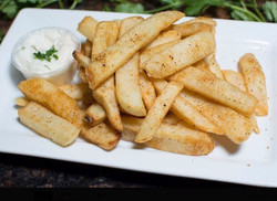 fries white plate