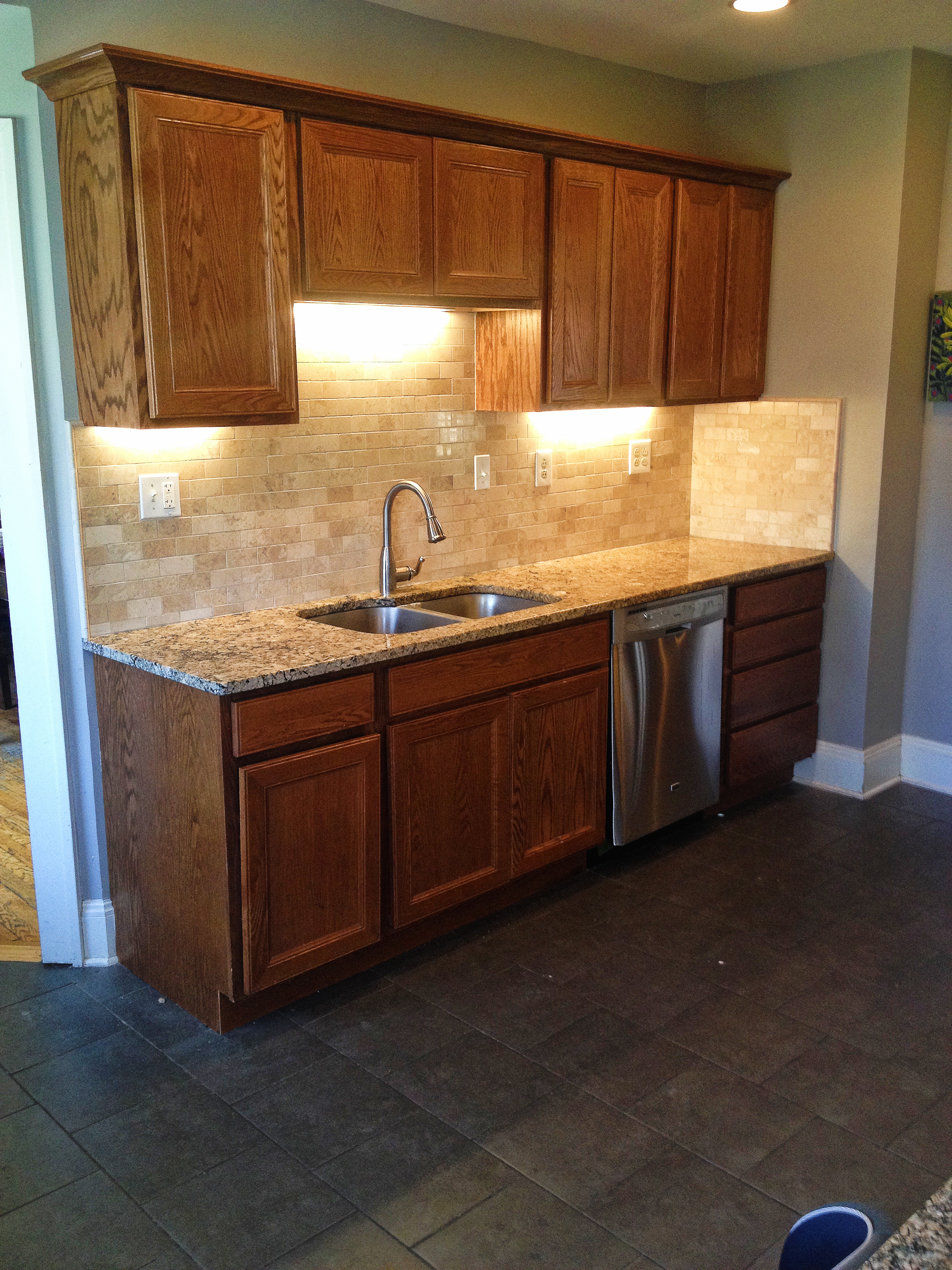 kitchen and backsplash