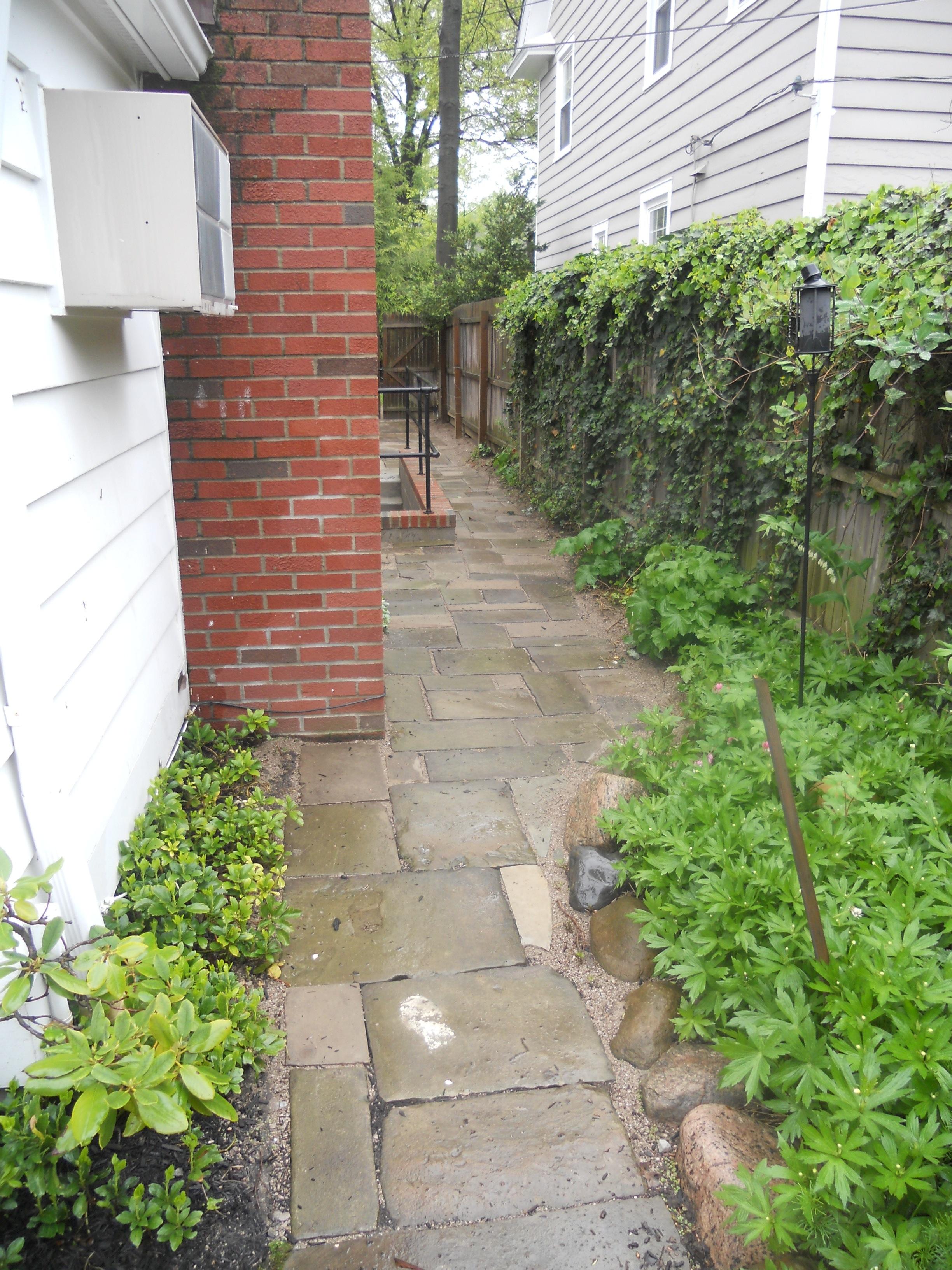 cut stone walkway