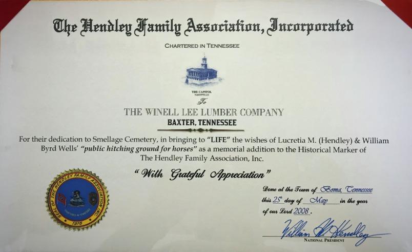 Hendley Family Letter