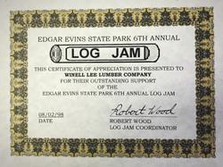 Edgar Evins State Park LOG JAM