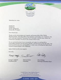 Highlands Chamber Letter