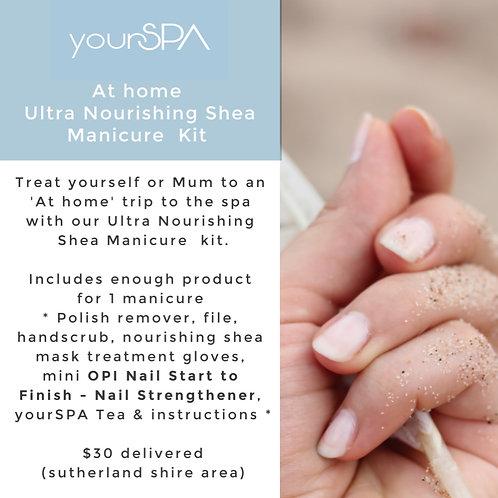 'At home' Ultra Nourishing Shea Manicure  Kit