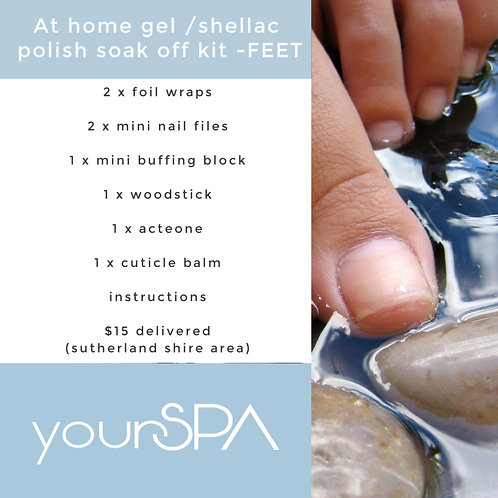 At home gel/shellac polish soak off kit - FEET