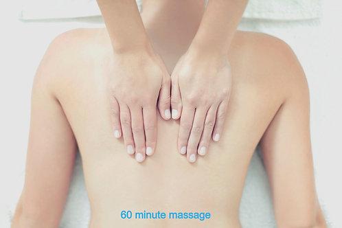 60 Minute Relaxation Massage - Gift Voucher