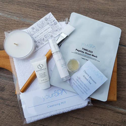 'At home' TIMELESS - Enzyme Peel & Peptide Facial mini kit