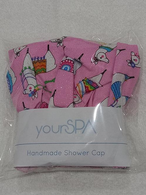 yourSPA Handmade Shower Cap - Llama