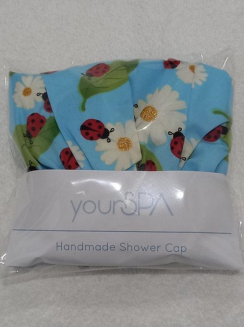 yourSPA Handmade Shower Cap - ladybird