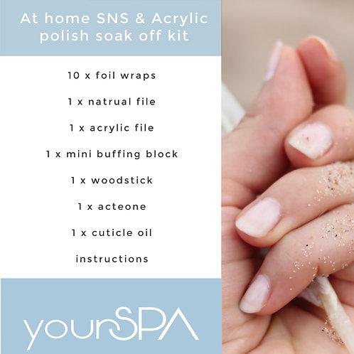 At home SNS / Acrylic soak off kit