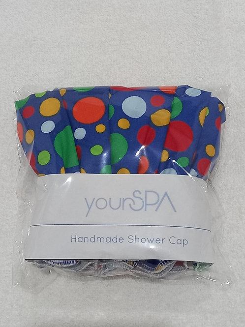 yourSPA Handmade Shower Cap - Rainbow Spots