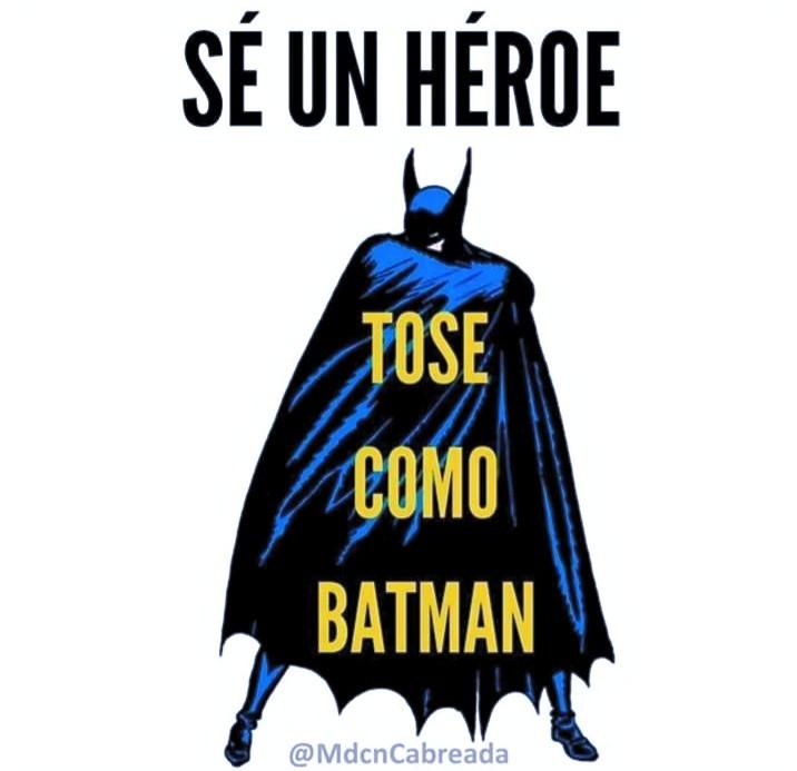 Tose como Batman