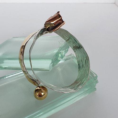 Silfur, kopar og látún armband