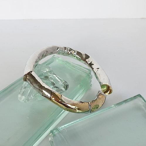 Holt silfur og látún armband