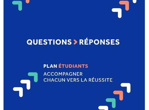 Le Plan Étudiants : questions - réponses