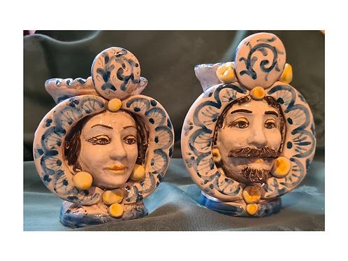 Couple Moorish head- 14cm height