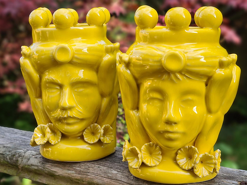 Yellow Coloured Heads Couple