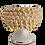 Thumbnail: Sicilian Handmade Half Pinecone Pot - Gold