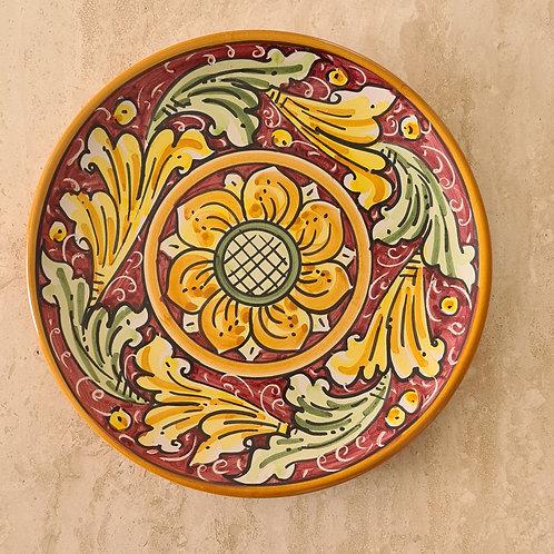 Handmade Sicilian Decorated Ceramic Plate