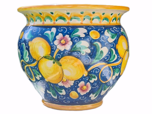 Sicilian Pot - Hand-crafted and handmade decorated