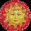 Thumbnail: Handmade ceramic sun to hang - Diameter 20cm