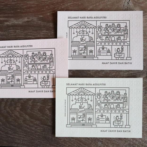 raya postcard designed by lead lab