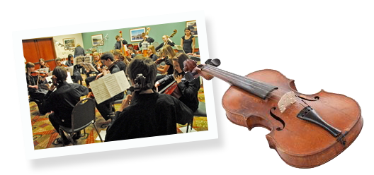 Peninsula Youth Orchestra in session
