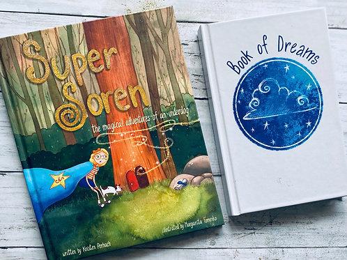 Super Soren Hardcover & Book of Dreams (unlined journal)