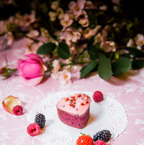 Financier framboise, mûre