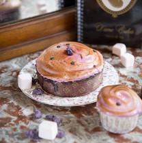 Cake Cassis Violette, meringue cassis