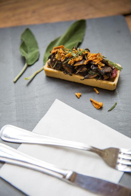 Tartelette champignons à la sauge, Canar