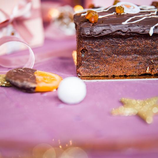 Cake Chocolat & Clémentine confites aux