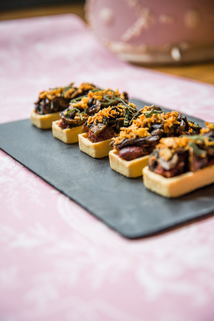 Tartelette champignons à la sauge