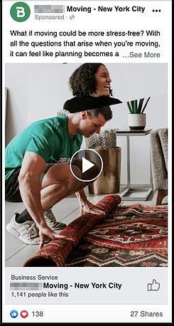 Moving Company Facebook Ad Screenshot 3
